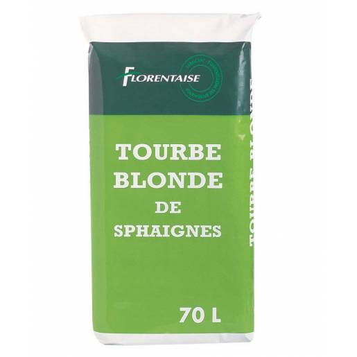 Tourbe Blonde - Sac de 70 L ou 20 kg