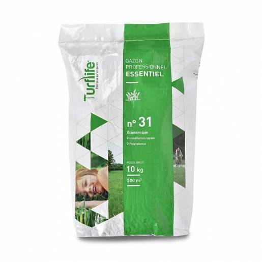 TURFLIFE n° 31 – Sac de 10 kg - Semences de gazon à germination rapide