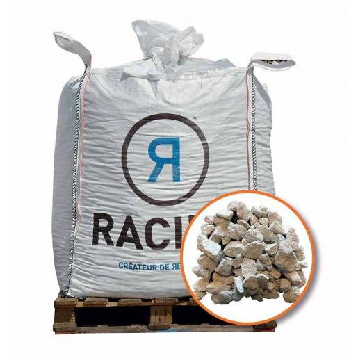 Big bag de gravier blanc calcaire - 750 kg