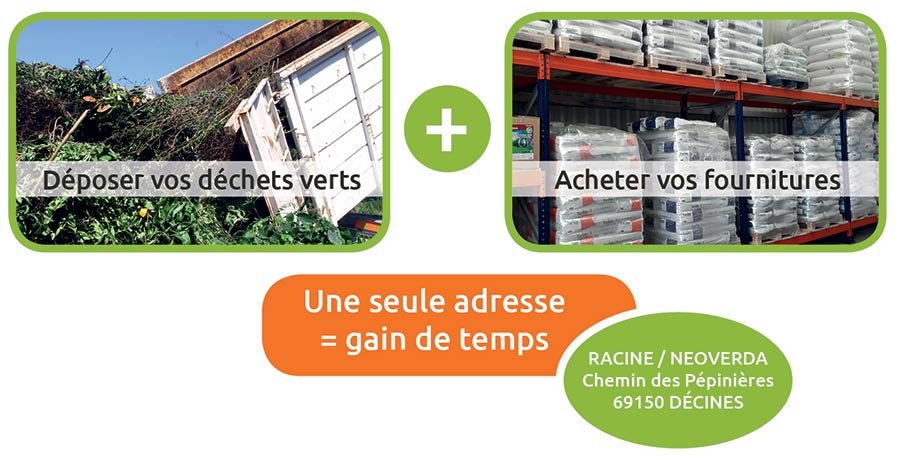 Comptoir + dépôt déchets verts